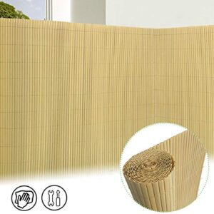 PVC Sichtschutzzaun - Imitat Bambus
